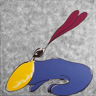 lapin en bleu