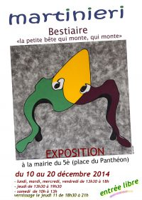 affiche paris 2014 vernissage