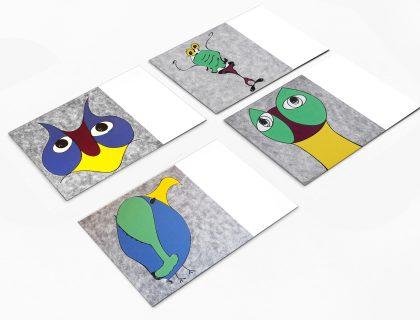 carte postale bestiaire