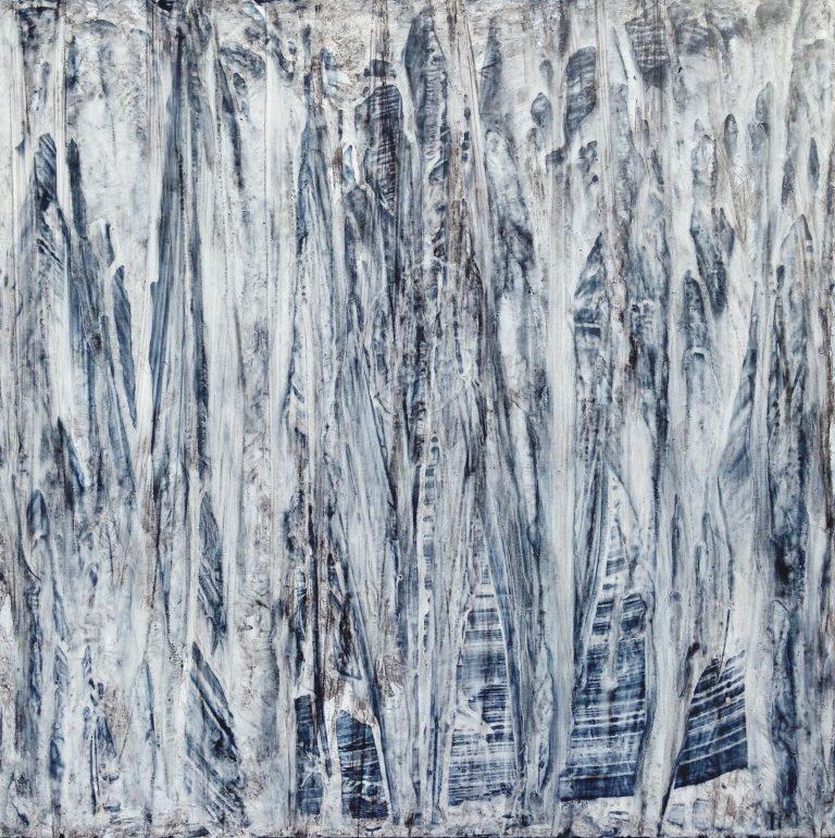 Forêt d'argent (format 80x80 cm)